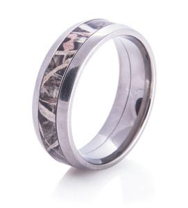 Titanium Camo Wedding Ring