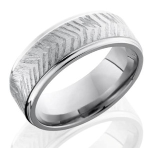 Textured Feather Style Ring