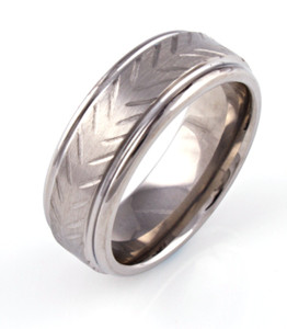Textured Rustic Style ring