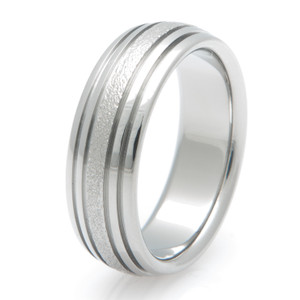Titanium Frost Ring with Grooves