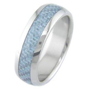 Titanium & Light Blue Carbon Fiber