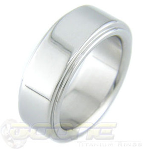 Titanium Ring with Flat Edgebands