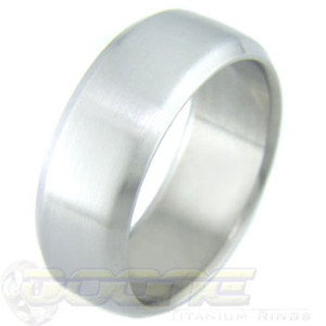 Titanium Ring with Round Beveled Edge