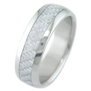 Titanium & Silver Carbon Fiber Inlay