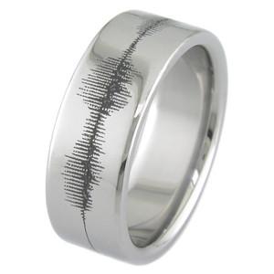 Titanium Sound Wave Ring