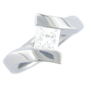 Tilted Stone Ring