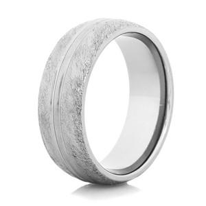 Men's Divided Gunmetal Titanium Western Wedding Ring
