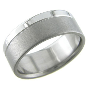 Titanium Ring with Satin and Polish