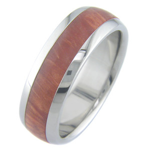 Titanium Ring with Bronze Colored Inlay