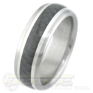 Titanium with Carbon Fiber and Silver Stripes