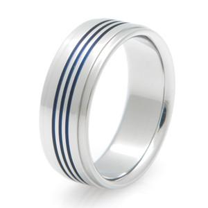 Men's Triple Threat Anodized Titanium Ring