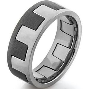 Men's Two-Finish Interlocking Ring
