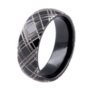 Two Tone Plaid Ring