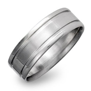 Titanium Ring with Dual Inlay