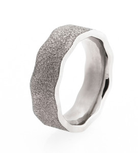 Men's Titanium Beaten Path Ring
