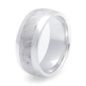 Men's Wide Titanium Gibeon Meteorite Ring