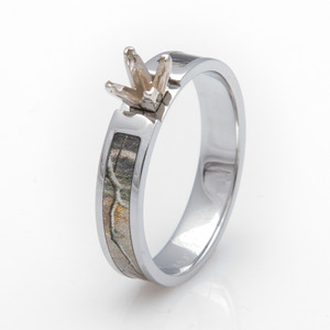 Camo Engagement Ring Princess Cut Setting