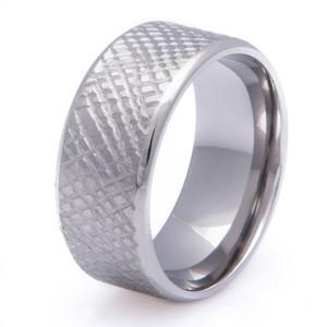 Titanium Cross Weave Wedding Ring