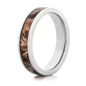 Women's Flat Profile Titanium Realtree Camo Ring