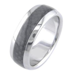 Titanium and Black Carbon Fiber Ring