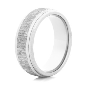 Men's Titanium Tree Bark Band