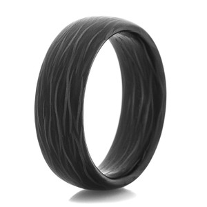 Men's Side Cut Carbon Fiber Ring