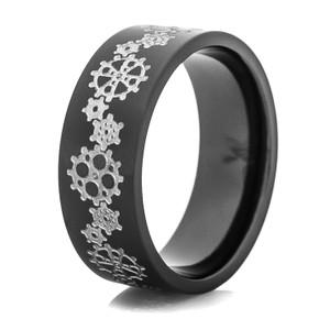 Men's Black Watch Gears Ring