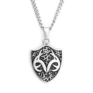 Stainless Steel Necklace with Realtree Shield Pendant
