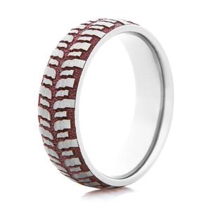Women's Titanium and Rose Gold Mud Bogger Ring