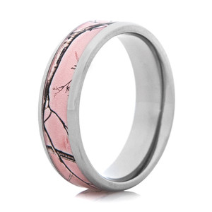 Women's Realtree AP Pink Beveled Edge Camo Ring