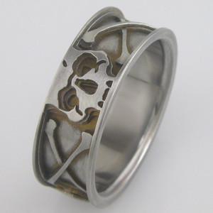 Men's Titanium Skull & Crossbones Ring