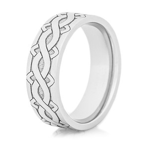 Laser Carved Celtic Weave Ring