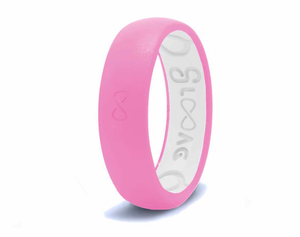 Narrow Silicone Breathable Ring- Pretty Pink