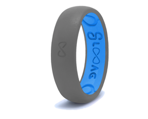 Narrow Silicone Breathable Ring- Storm Grey