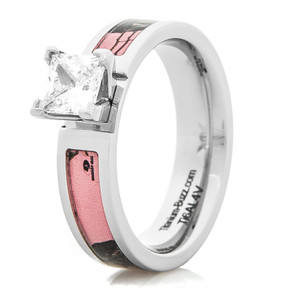 Women's Pink Mossy Oak Engagement Ring