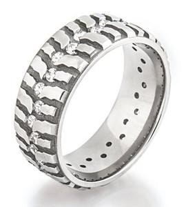 Women's Titanium Mud Bogger Ring with Cubic Zirconia