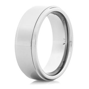 Men's Step Down Tungsten Ring