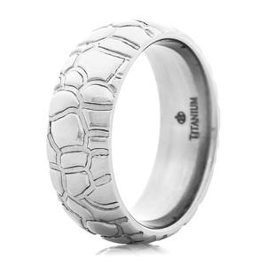 Men's Boulder Path Titanium Ring