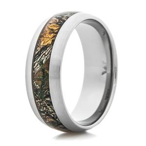 Men's Titanium Realtree Xtra Camo Ring