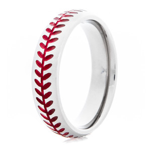 Women's Baseball Stitch Ring with Color