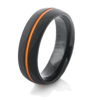 Midnight Matte Black Rings