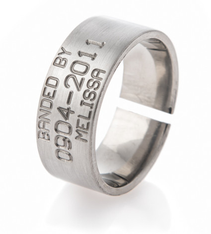 Men's Titanium Split Back Duck Band Wedding Ring