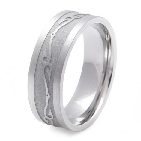 Titanium connected fish hooks wedding ring titanium buzz for Fish hook wedding ring