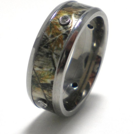 Camouflage Band with Diamonds