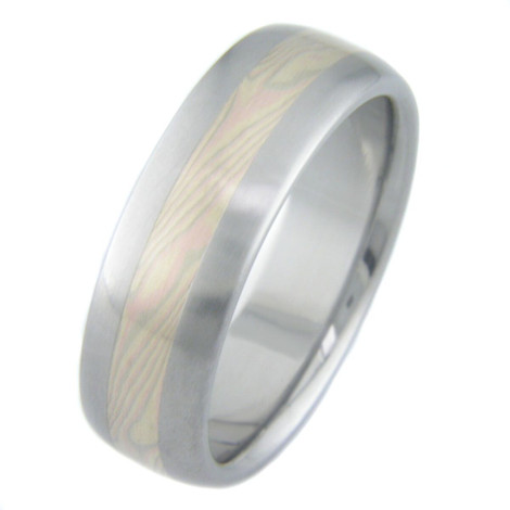 Tri-Gold Mokume Ring