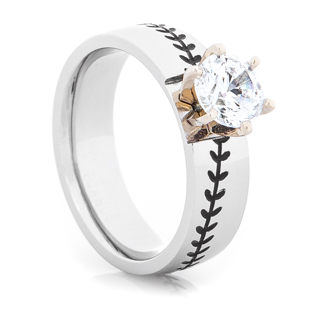 Home Rings By Style Women 39 S Cobalt Diamond Baseball Ring