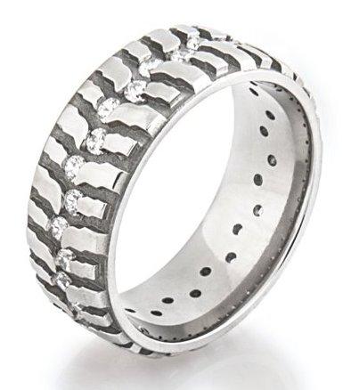 Women's Titanium Mud Bogger Ring with Diamonds