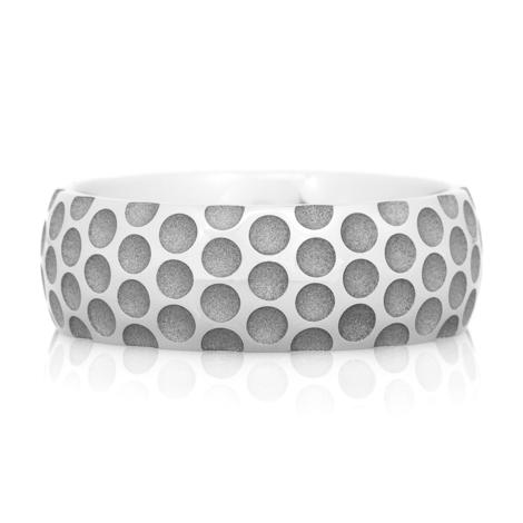 Men's Cobalt Golf Ball Wedding Ring