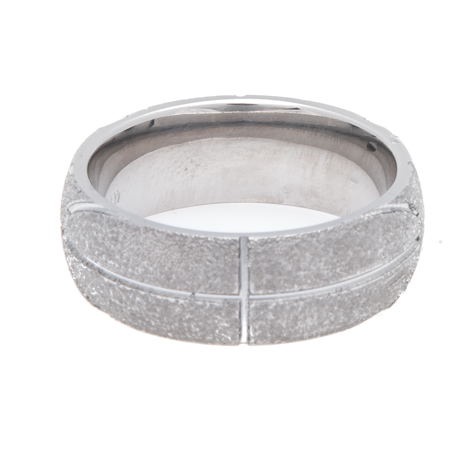 Men's Titanium Basketball Wedding Ring