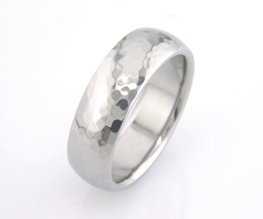 Titanium Ring with Hammered Finish